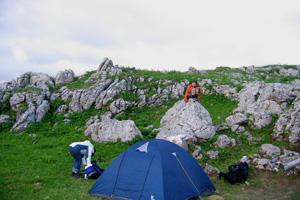 Ночевка в скалах на Каменном море